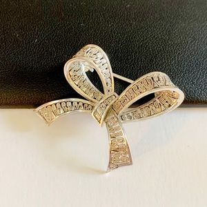 Vintage Sterling Silver GERMANY Petite Bow Brooch